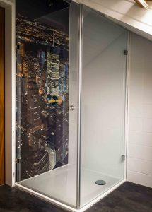 Dusche mit New-York Motiv